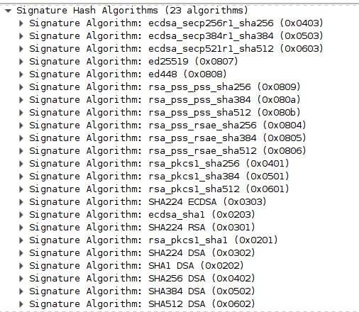 INN] TLS Signature algorithm selection